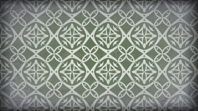 Verde y modelo de Grey Vintage Decorative Ornament Background libre illustration