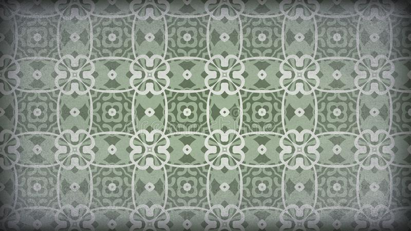 Verde y papel pintado de Grey Vintage Decorative Floral Pattern libre illustration
