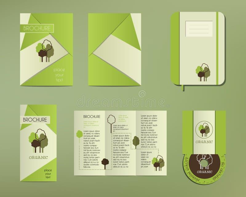 Verde Y Plantilla Determinada Orgánica De La Identidad Corporativa ...