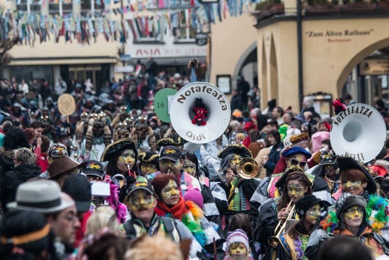 Verdeckte Karnevals-Zahl stockfoto