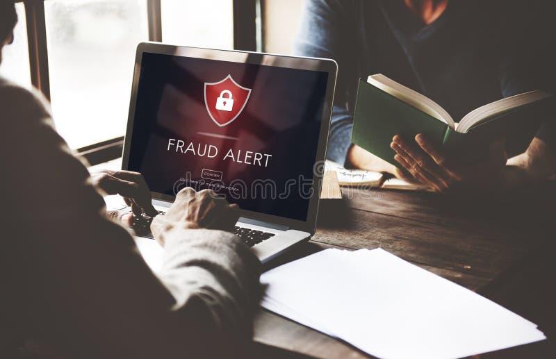 Verdedigt de fraude Waakzame Voorzichtigheid Wacht Notify Protect Concept stock afbeelding