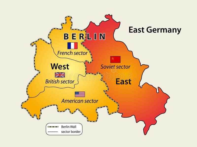 Verdeeld Berlijn stock illustratie