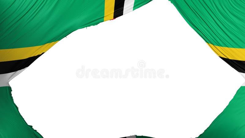 Verdeelde Dominica vlag royalty-vrije illustratie