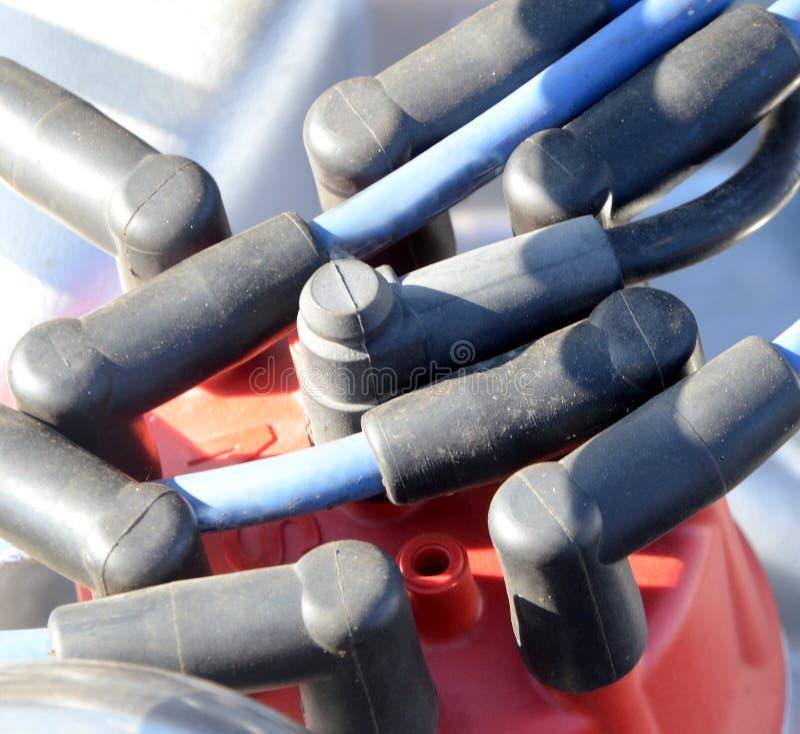 Verdeler van een 8 cilindermotor van een auto royalty-vrije stock fotografie