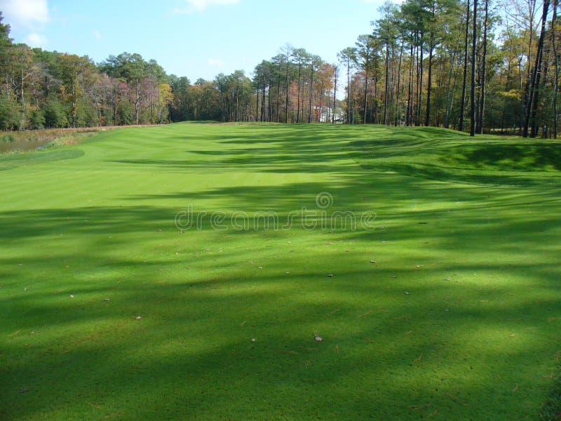 Verdes del campo de golf imagenes de archivo