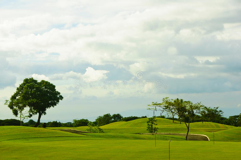 Verdes del golf imagen de archivo
