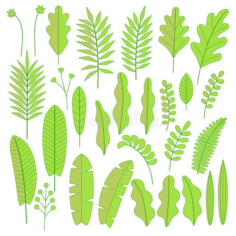 Verdes mínimos ilustración del vector