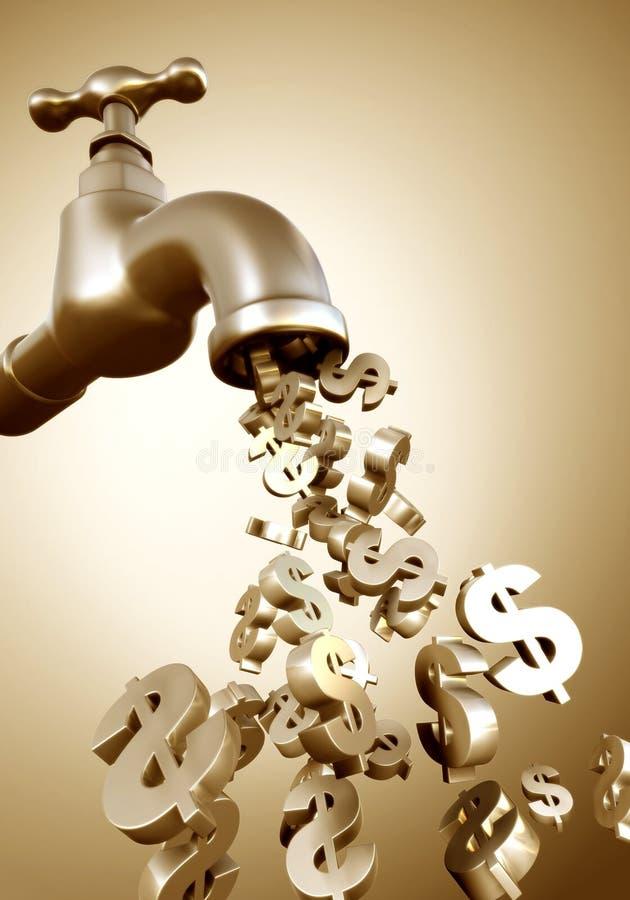 Verdienen des Geldes stock abbildung