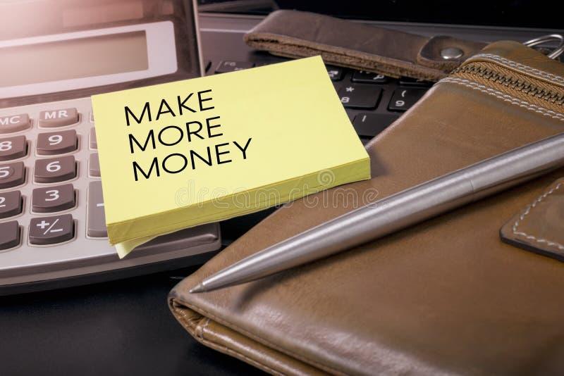 Verdienen Sie Geld stockfotografie