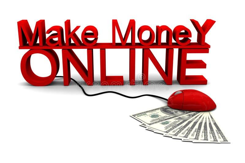 Verdienen Sie Geld Online lizenzfreie abbildung