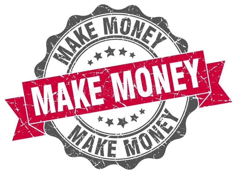 Verdienen Sie Geld zu stempeln vektor abbildung