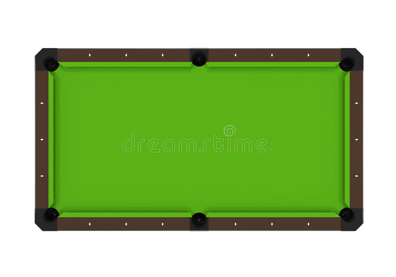 Verdissez la table de billard illustration de vecteur