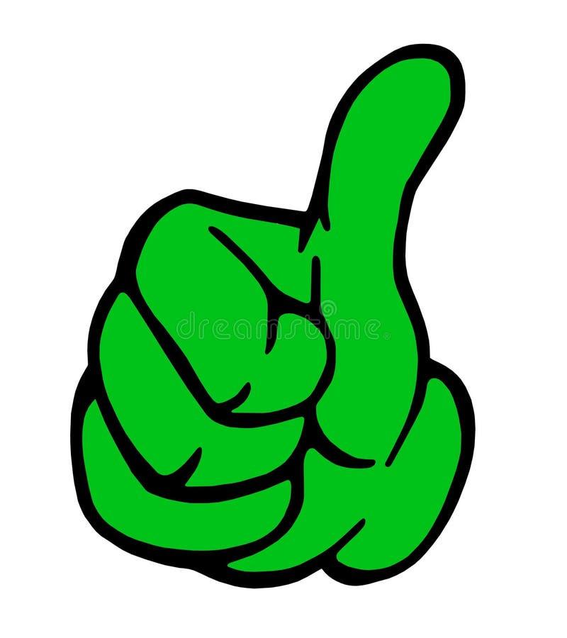 verdissez les pouces de signe de main vers le haut illustration libre de droits