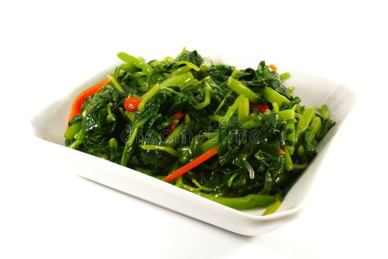 verdit les légumes cuits à la vapeur sains photos stock