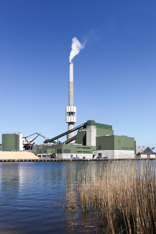 Verdo能量发电站在兰讷斯,丹麦 库存图片