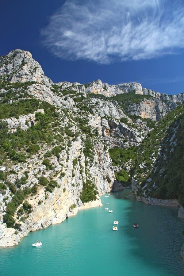 verdon каньона стоковая фотография