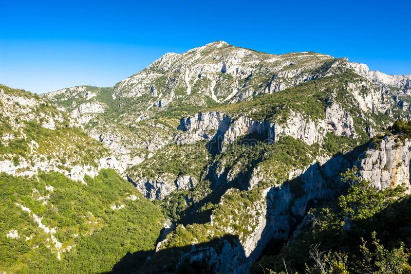 Verdon-Schlucht, Provence, Frankreich lizenzfreie stockbilder