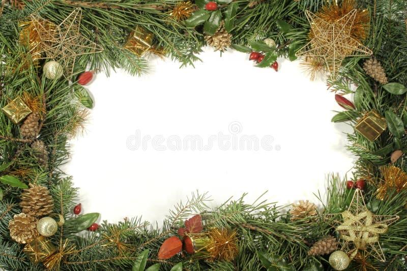 Verdor y decoraciones de la Navidad fotografía de archivo