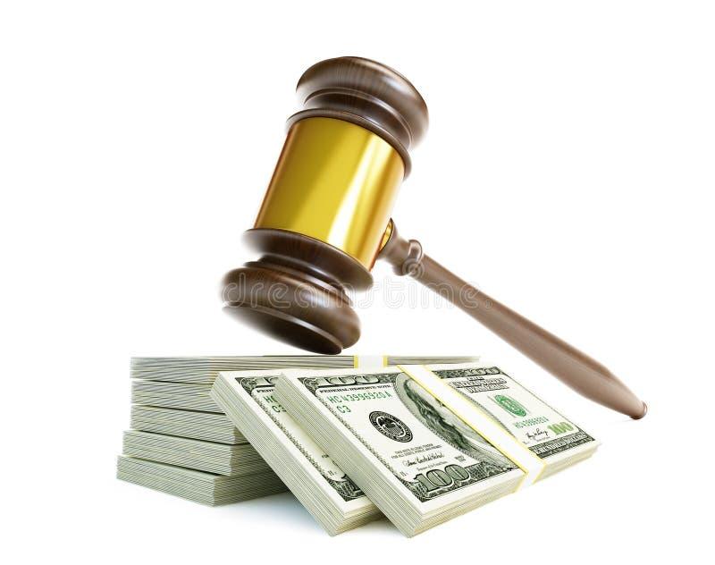 Verdorbener Gerichtshammer lizenzfreie abbildung