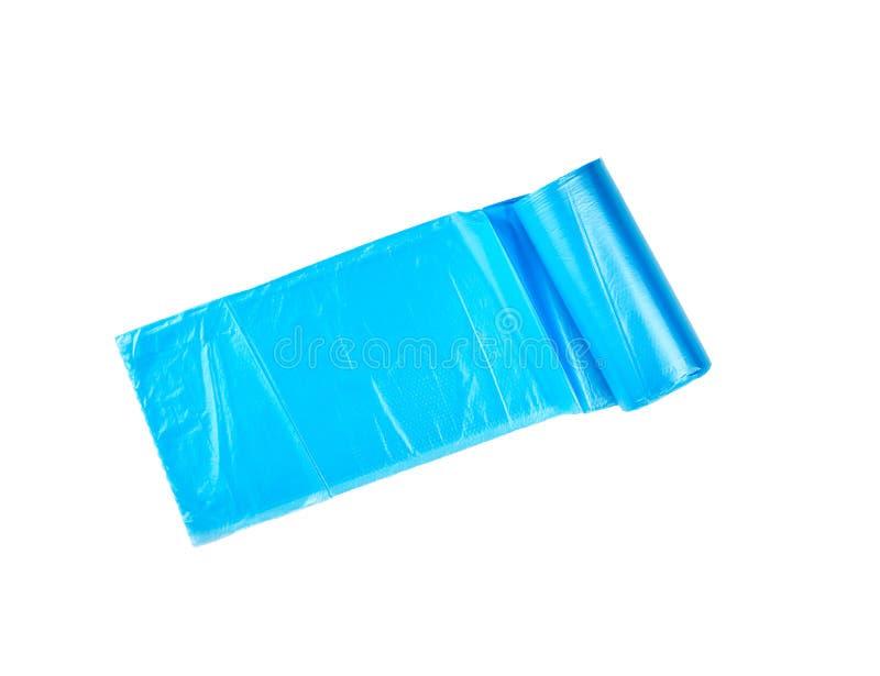 verdraaide blauwe plastic zakken voor bak stock afbeeldingen