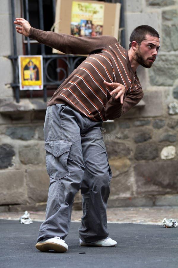 Verdraaide danser in de straat royalty-vrije stock foto