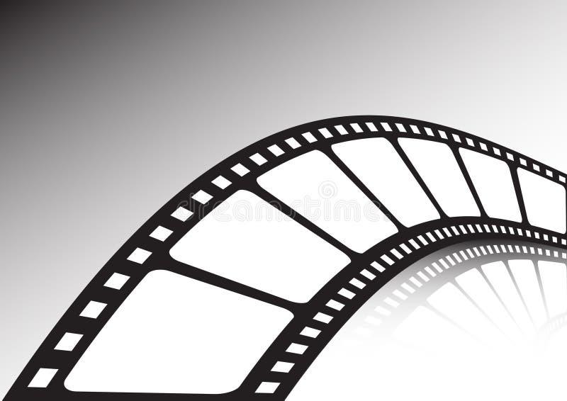 Verdraaide filmstrook vector illustratie