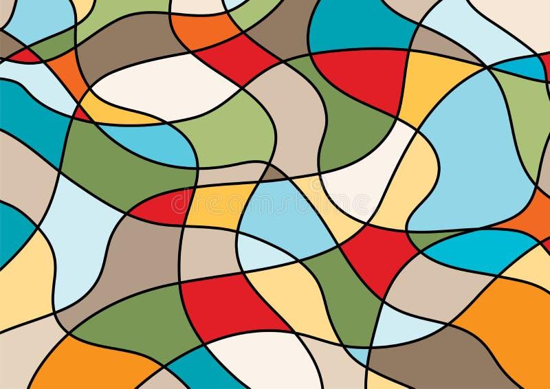 Verdraaide lijnenachtergrond stock illustratie