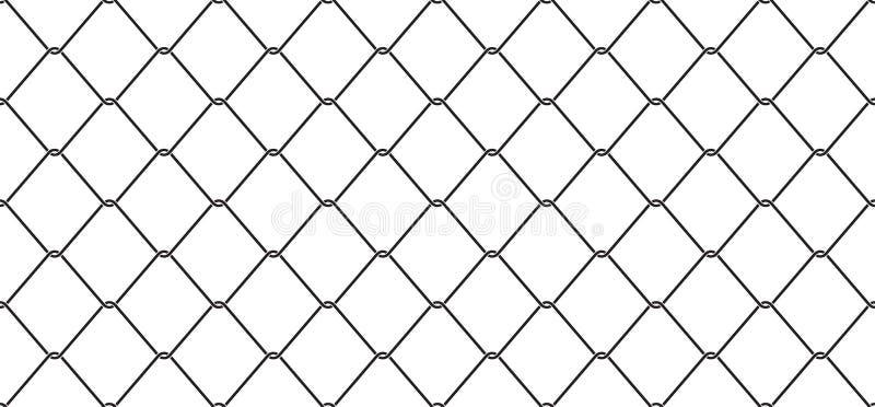 Verdrahten Sie lokalisierten Tapetenhintergrund Mesh Seamless Pattern-Vektor Kettenglieds Zaun lizenzfreie abbildung