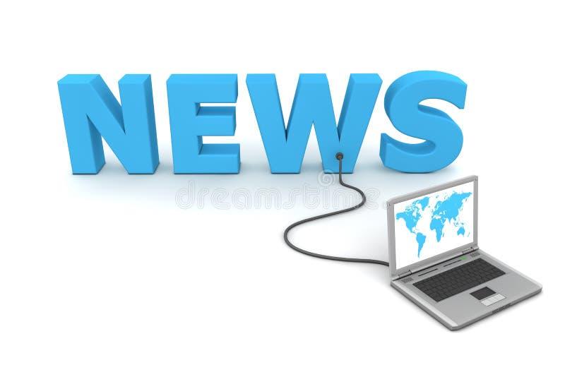 Verdrahtet zu den Nachrichten lizenzfreie abbildung