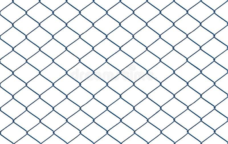 Verdrahteter Zaun lokalisiert auf weißem Hintergrund lizenzfreie stockfotografie