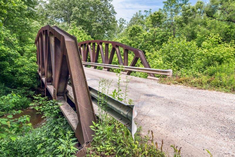 Verdrehte Pony Truss Bridge lizenzfreie stockfotografie
