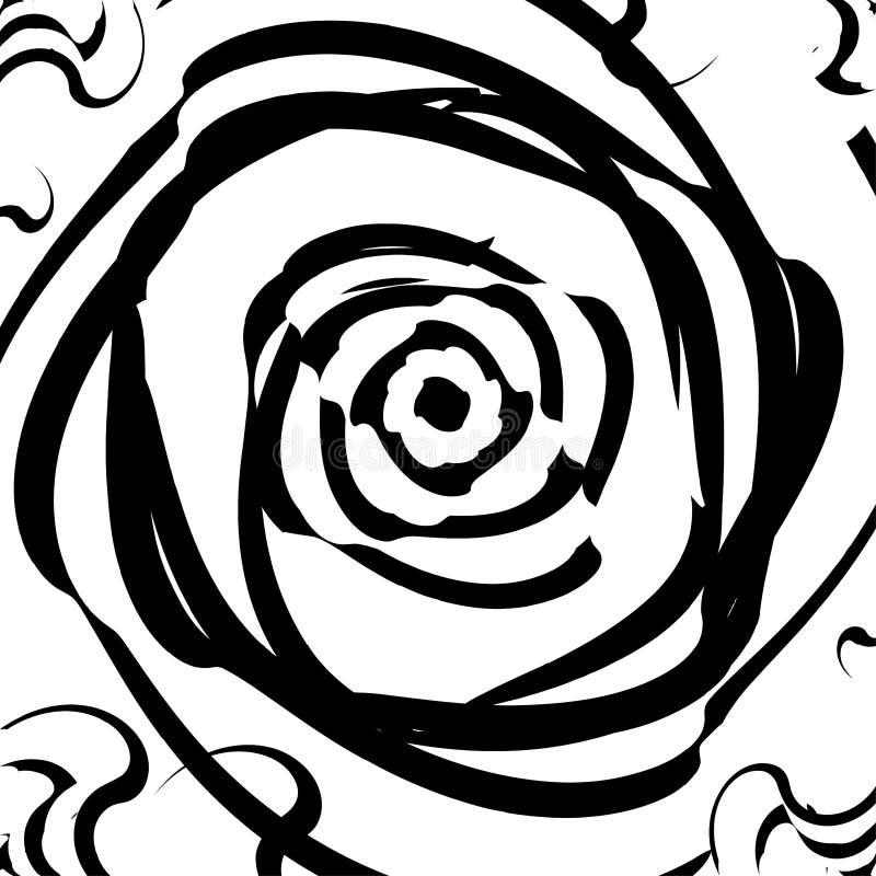 Verdrehter dynamischer Hintergrund Optische Illusion Drehung, Verzerrung, Rotationsbewegungseffekt lizenzfreie abbildung