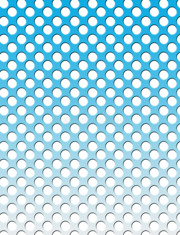 Verdrehter Gitterhintergrund - Kreise, abgestuft lizenzfreie abbildung