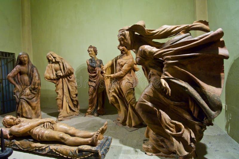 Verdriet over de Dode standbeelden van Christus stock fotografie