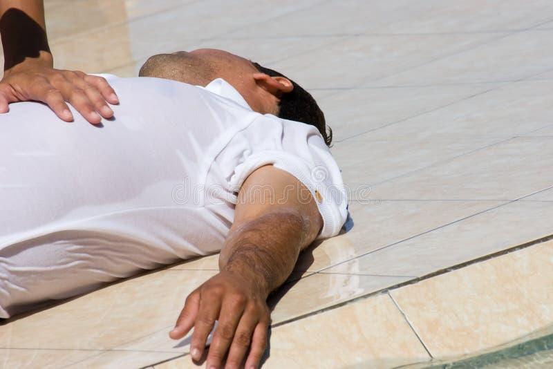 Verdrinkend Slachtoffer stock afbeelding