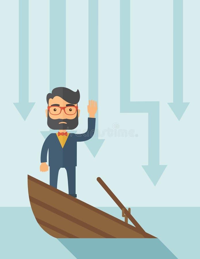 Verdronken zaken royalty-vrije illustratie