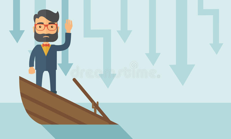 Verdronken zaken stock illustratie