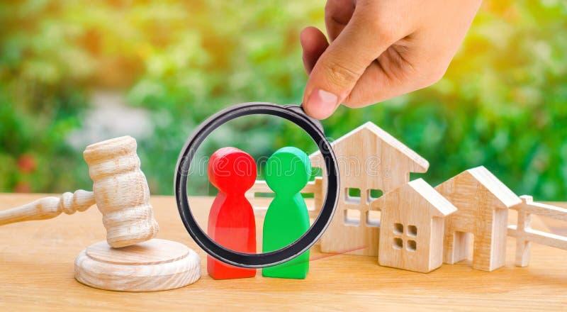Verduidelijking van eigendom van het huis/onroerende goederen hof en stock afbeelding