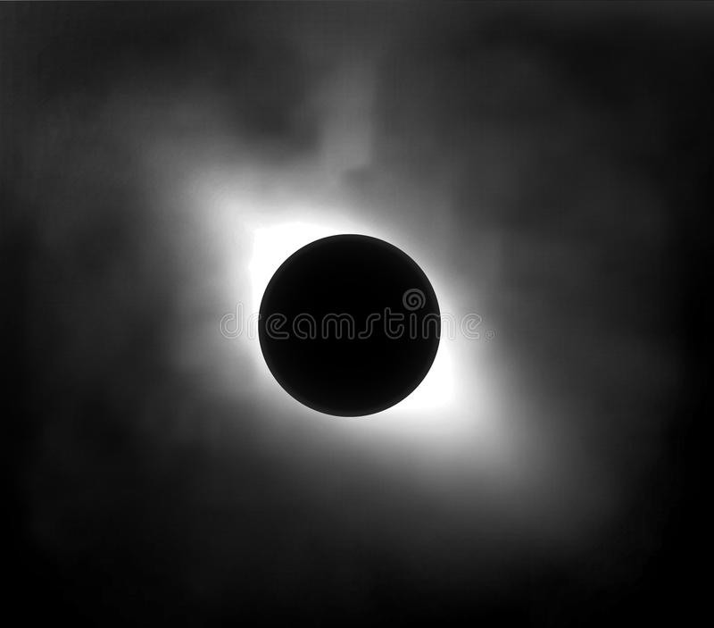 Verduistering van de zon in de hemel stock illustratie