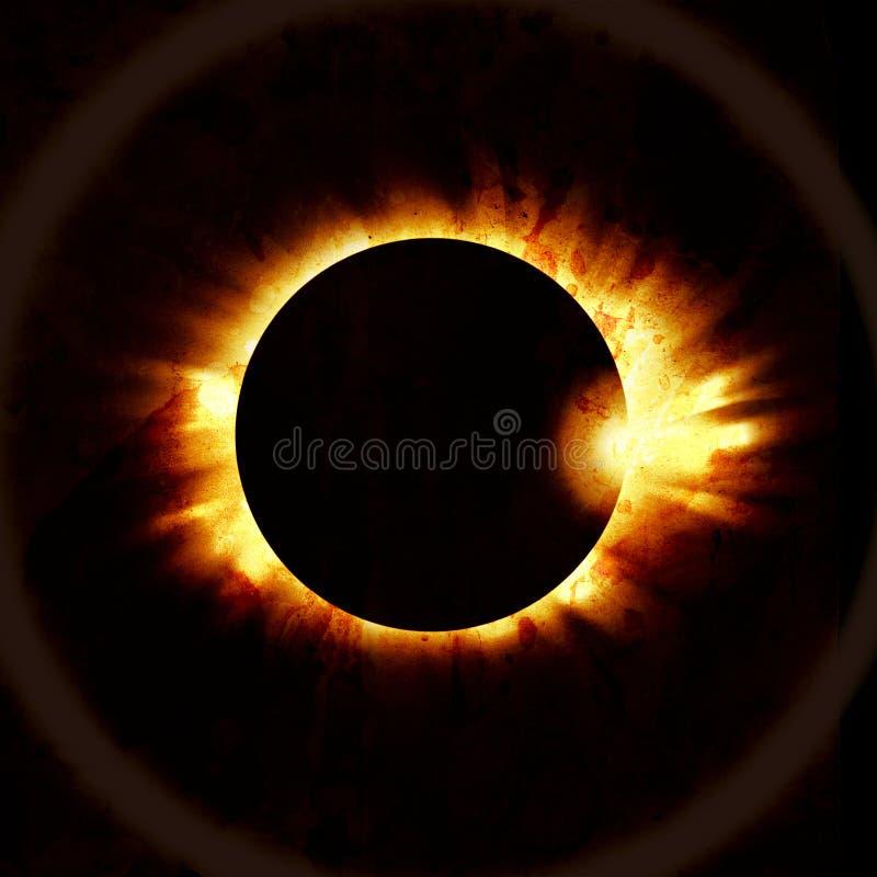 Verduistering van de zon op de zwarte royalty-vrije illustratie