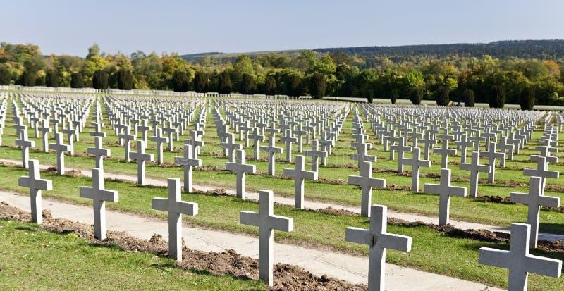 Verdun-Krieg-Kirchhof stockfotografie