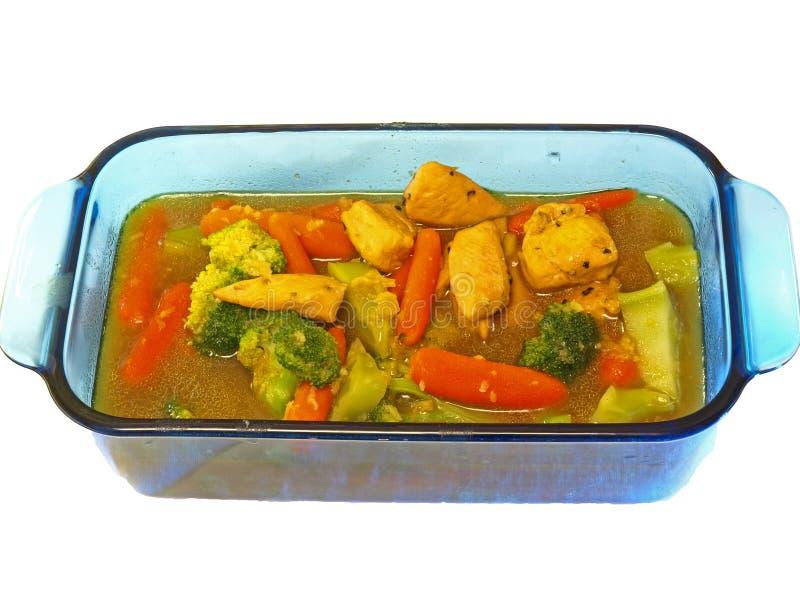 Verdura & pollo del curry fotografie stock libere da diritti