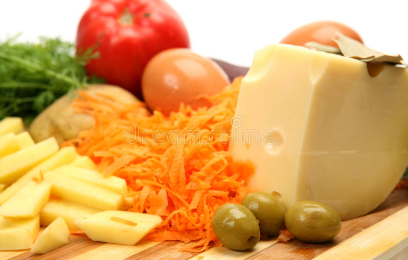 Verdura fresca e formaggio immagini stock libere da diritti