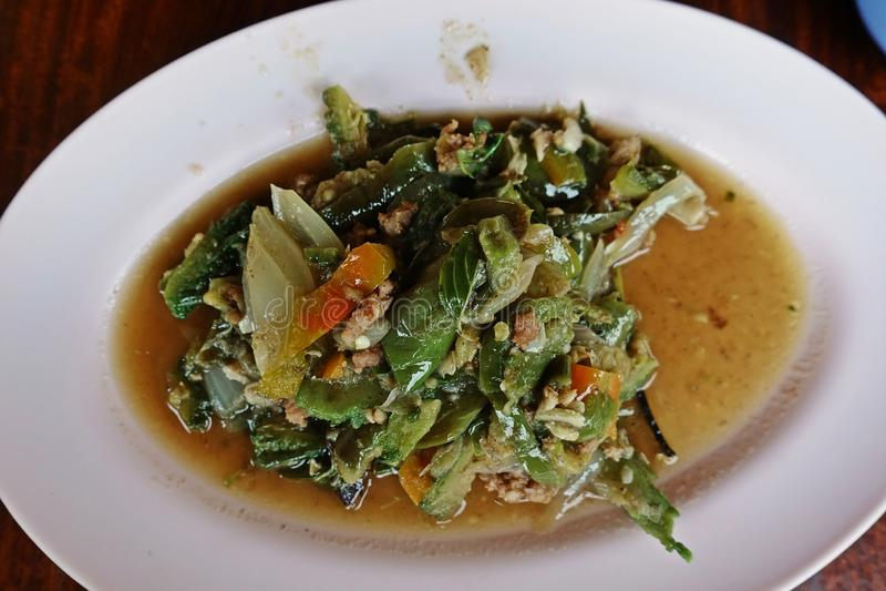 Verdura mixed fritta Stir fotografia stock