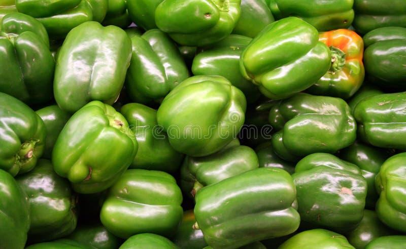 Verdura - peperone dolce verde fotografie stock