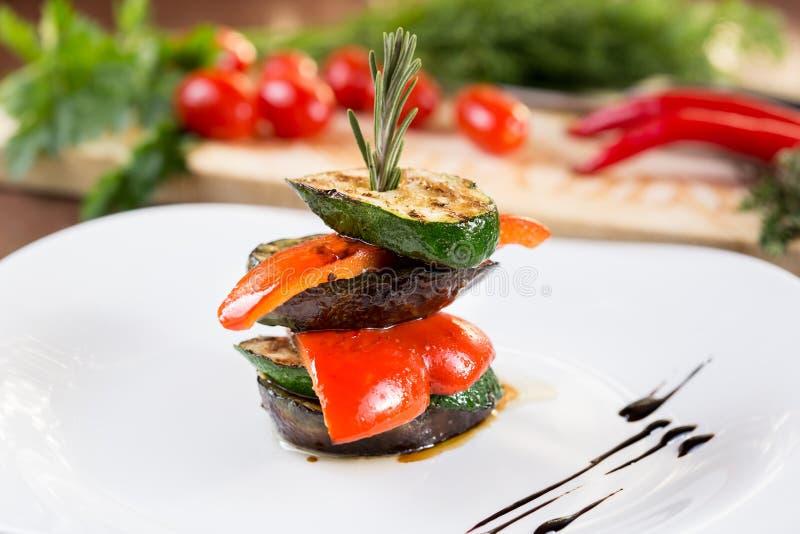 Verdura sana arrostita col barbecue fotografia stock libera da diritti