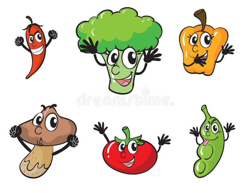 Verduras stock de ilustración