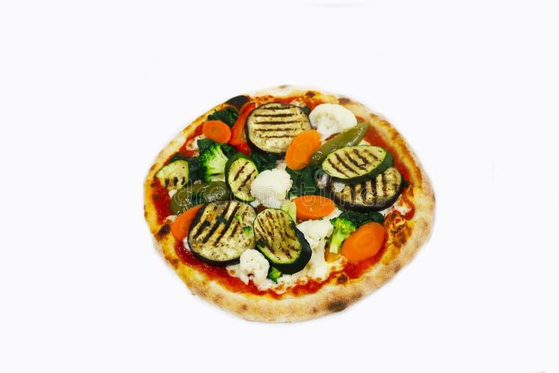 Verduras aisladas, comida de la pizza del italiano del restaurante foto de archivo