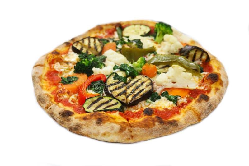 Verduras aisladas, comida de la pizza del italiano del restaurante fotografía de archivo