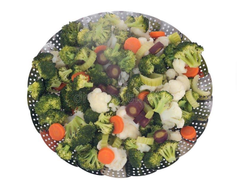 Verduras cocinadas vapor foto de archivo libre de regalías